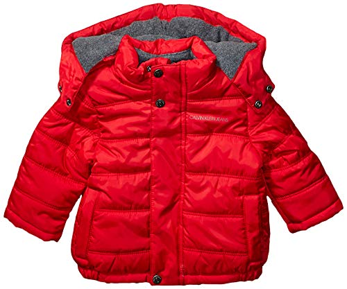 Calvin Klein Baby Boys Eclipse Bubble Jacket, Bright Red, 18M