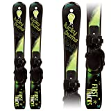 Lucky Bums Kids Beginner Snow Skis without Poles, 70cm, Green/Black