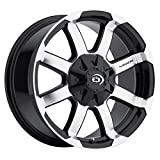 VISION 413 Valor 15X7.5 5x5.5 -12 Gloss Blk/Mach Face (Qty of 1)