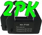 2 PK Compatible Panasonic KX-P2130 / 2135 Black Printer Ribbons (KX-P160), Works for KX-P2130, KX-P2135, Office Central