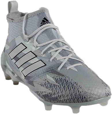39db49d00574c adidas Mens ACE 17.1 Primeknit FG Soccer Athletic Cleats Grey;White 9