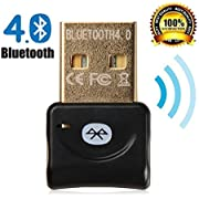 Zoweetek Bluetooth 4.0 USB Adapter Bluetooth USB Dongle Stick hohe Signalstärke Kompatible Windows XP/Vista/7/8/8.1 Version 4.0 Technologie | neuester Standard | Plug & Play | Windows 10 fähig Effektiven Radius von 20m