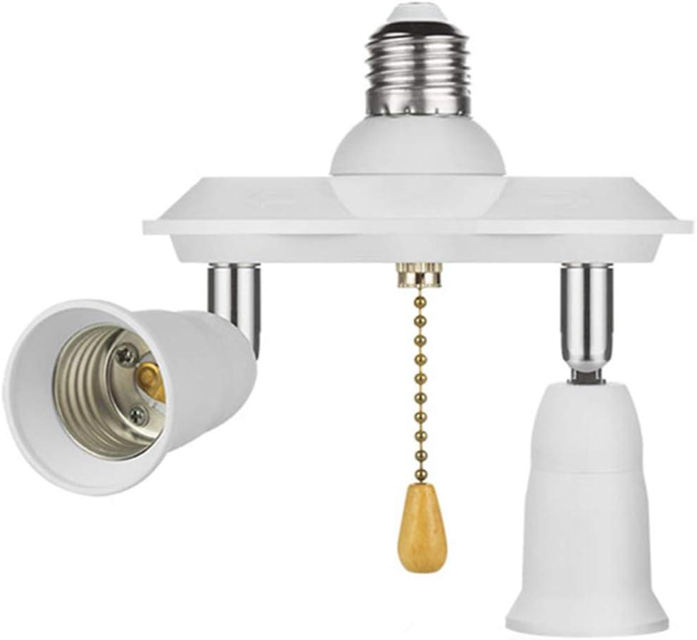 Pull Chain Light Fixture E26 E27 Pull Chain Light Socket Adapter Converter Splitter 360 Degree Adjustable And 180 Degree Bendable Amazon Com