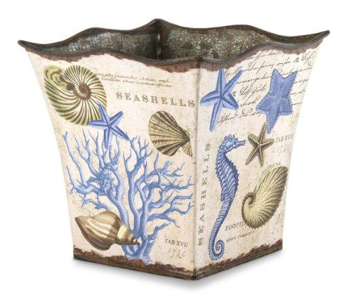 Michel Design Works Decorative Tin Bucket/Planter, Small, Seashore -