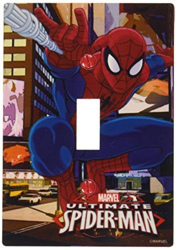 Light Switch Covers Kids - AmerTac M1012T Marvel Spider-Man Single Toggle Wall Plate, Multi