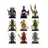 BTZ 9pcs/lot Minifigures Ninja Building Blocks Toys Non-Retail Packing Compatible With Lego