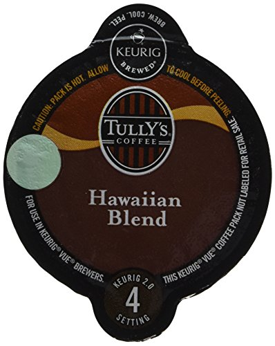 32 Count -Tully's Hawaiian Coffee Vue Cup For Keurig Vue Brewers
