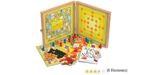 Jeujura 8167 - Cofre de Juegos de Mesa de Madera [Importado de Francia]: Amazon.es: Juguetes y juegos