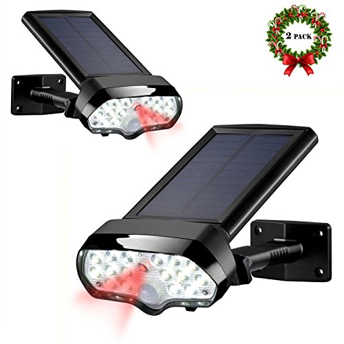 Solar Motion Sensor Light,Vandeng 17 LEDs IP 65 Waterproof Wireless Solar Security Light for Backyard Front/Back Door Garage Porch Driveway Patio(2 Pack)
