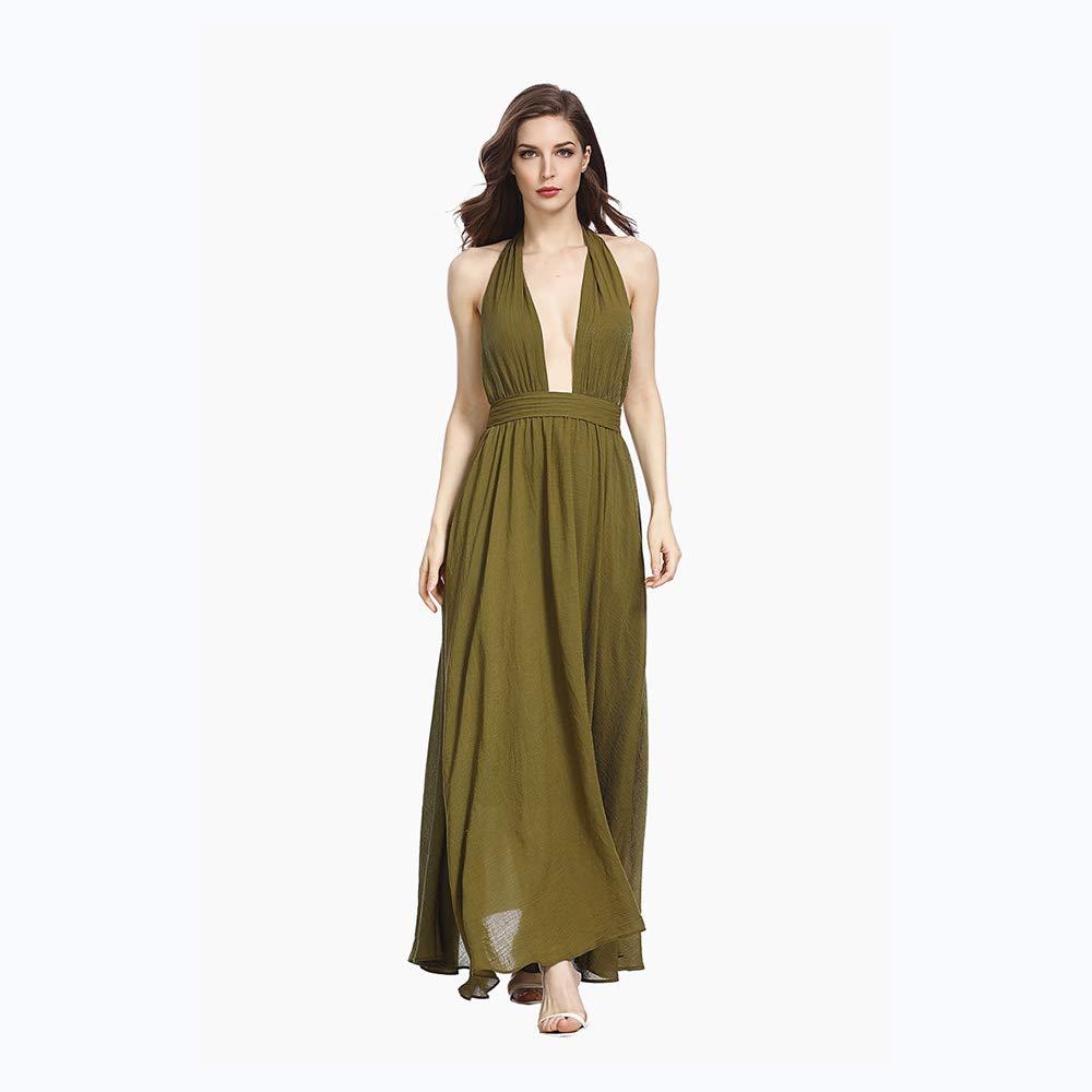 XiXi Vestido Vestido Largo de Estilo Nuevo for Mujer con Corbata y ...