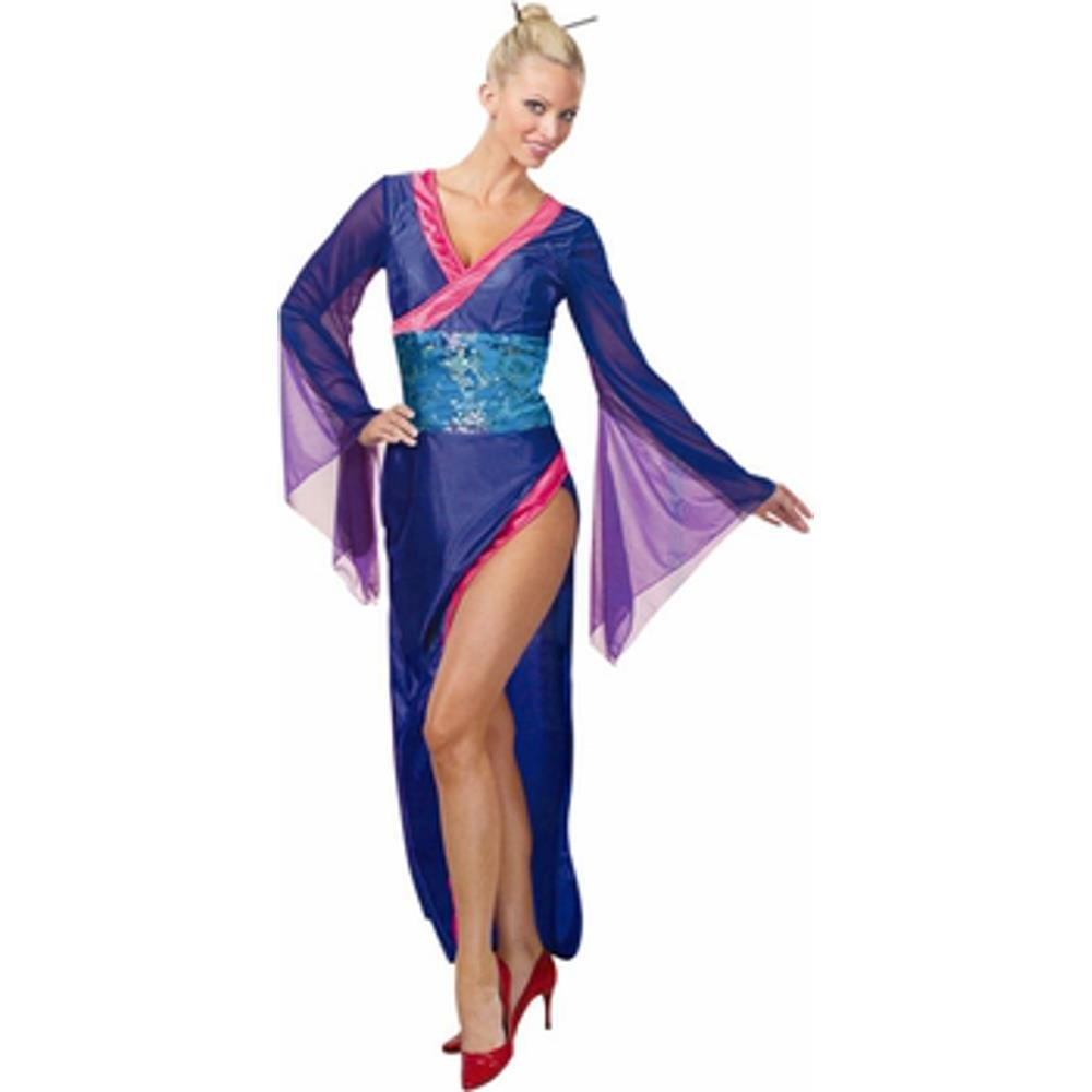 Amazon.com: Adult Blue Sexy Geisha Costume (Size:Large 14-16 ...