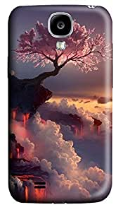 Samsung S4 Case Cherry Trees On The Cliff 3D Custom Samsung S4 Case Cover