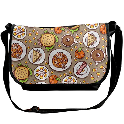 Halloween Meal Pattern Unisex Cross Body Bags Personalized Handbag]()