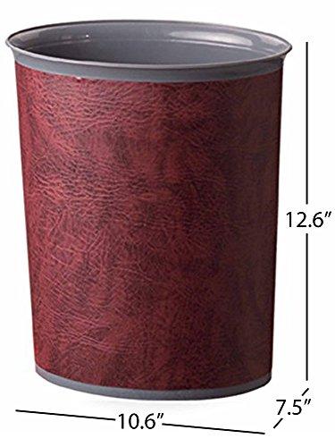 Bennett Plasbin Trash Can Small Office Plastic Wastebasket Leatherette Finish Modern Home