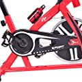 Goplus Adjustable Exercise Bike Cycle Trainer Stationary Cardio Fitness Bicycle w/ LCD 18 lb Flywheel