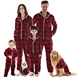 KWESOR Family Christmas Onesies Pajamas Sets, Microfleece Non-Footed One Piece Sleepwear for Adults Boys Girls Babies Dogs