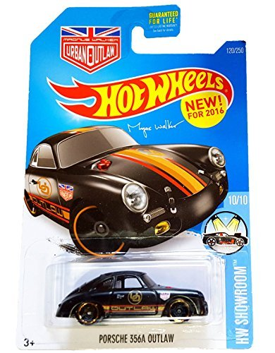 Hot Wheels, 2016 HW Showroom, Magnus Walker's Porsche 356A Outlaw [Black] Die-Cast Vehicle #120/250