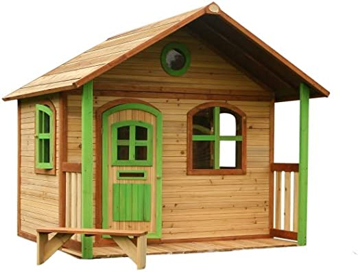 Beauty.Scouts Casa de madera con porche Ulli 173 x 180 x 180 cm de madera