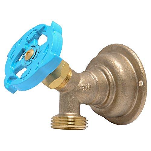 SharkBite 24627LFA Hose Bibb 90 Degree, 3/4 Inch x 3/4 inch Water Valve Shut Off, MHT Multi Turn, Push-to-Connect, PEX, Copper, CPVC, PE-RT ()