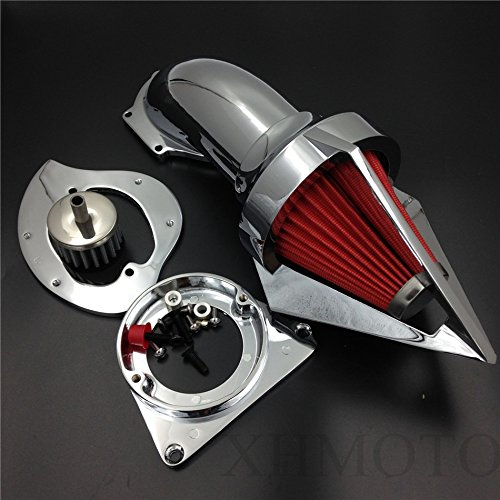 Triangle Spike Air Cleaner Intake Kits For Kawasaki Vulcan 800 Classic 1995-2012 Chrome ()