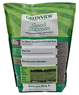 Greenview Fairway Formula Seed Success Biodegradable Mulch with Fertilizer, 10 lb bag covers 200 sq ft