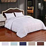 Homelike Moment Lightweight Comforter Down Alternative Comforter Queen All Season Duvet Insert White Microfiber Comforter With Corner Tabs Hypoallergenic Full/Queen Size