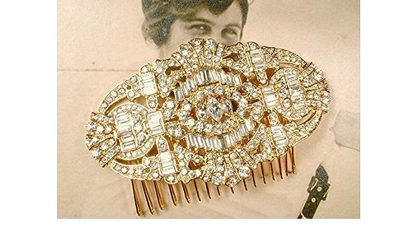 Wedding Headpiece Silver Double Hair Comb Godness Crystal 1920s Bridal Head Chain Boho Bride Hair Comb Headband Art Deco Hair Piece Leafs