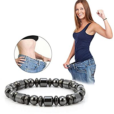 3Pcs Magnetic Bracelet, Unisex Stylish Weight Loss Black Stone Bracelet Health Care Bracelet Women Men Gifts for Parents Friends