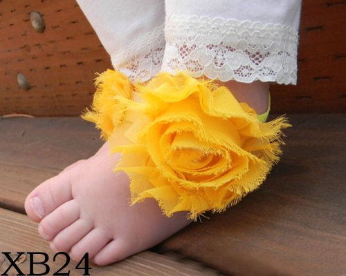 BONAMART ® Nette Baby Infant Mädchen Barfuß Blume Sock Sandalen Schuhe Toe Blooms NEU XB24