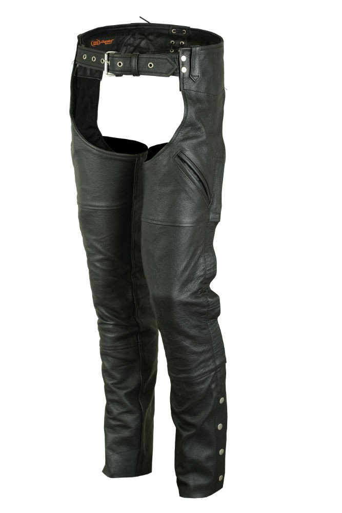 DS404 Economy Unisex Deep Pocket Chaps - Motorcycle Chaps