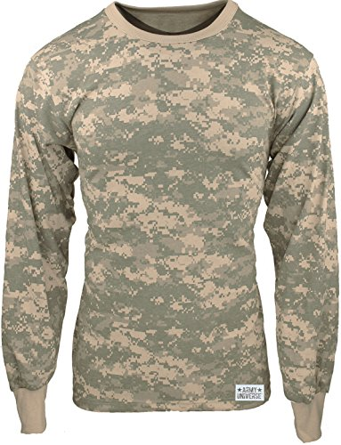 Military Camouflage Long Sleeve T-Shirt Camo Army Tee With ArmyUniverse Pin b8db2a72766
