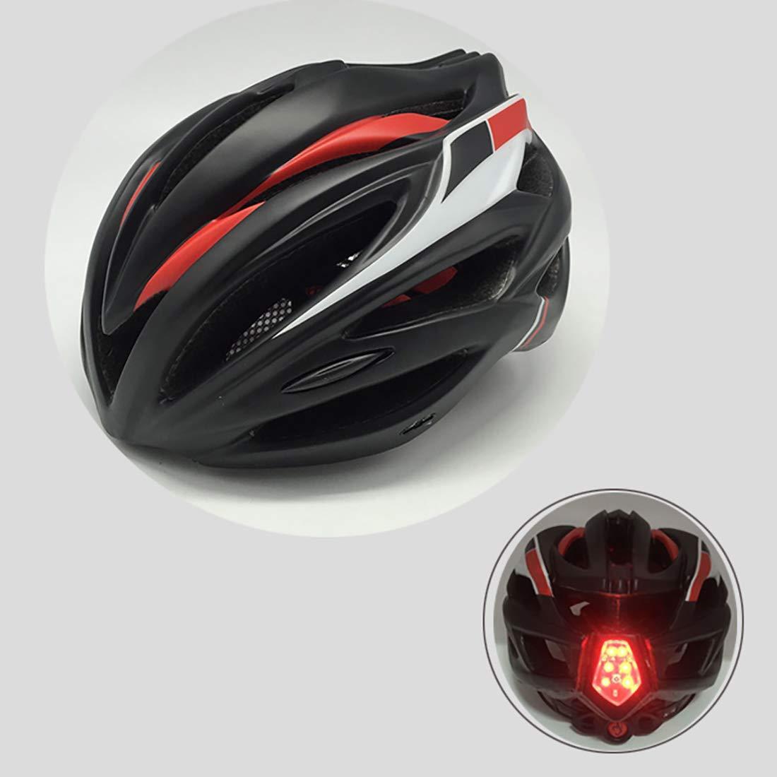 Kamiwwso Airflow-Fahrradhelm mit eingegossenem Verstärkungsskelett für zusätzlichen Schutz Erwachsener Fahrradhelm Mountainbike (Farbe   ROT)