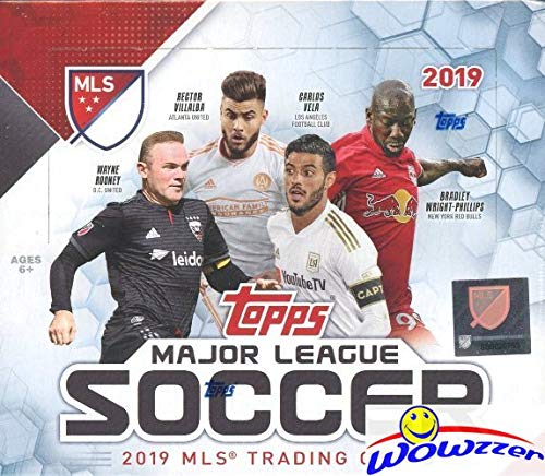 (2019 Topps MLS Major League Soccer MASSIVE 24 Pack Factory Sealed Retail Box with 144 Cards! Look for Cards, Inserts, Parallels & Relics of all the Biggest MLS Super Stars! WOWZZER!)