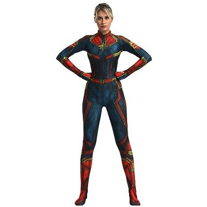 FYBR Disfraz de Capitán Marvel SuperSkin para Adultos ...