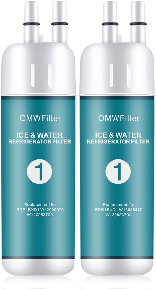 DROP1 Refrigerator Water Filter1 Compatible with Kenmore 46-9081 46-9930 P4RFKB2 ; W10291030 P5WB2L P4RFWB ; Kitchenaid KFFS20EYMS01 KFFS20EYMS00 CAP KFFS20EYMS04; Amana ASD2575BRS01 (2PCS) …