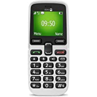 Doro 5030 Unlocked 2G Easy Mobile Phone for Seniors with Basic Functions and Emergency Button (White)
