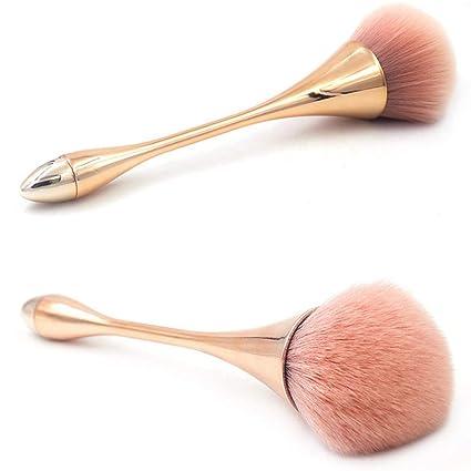 TAOtTAO Brochas de Maquillaje cosmético Fundación Powder Sombra de Ojos Cepillo, 0.06, Color Oro