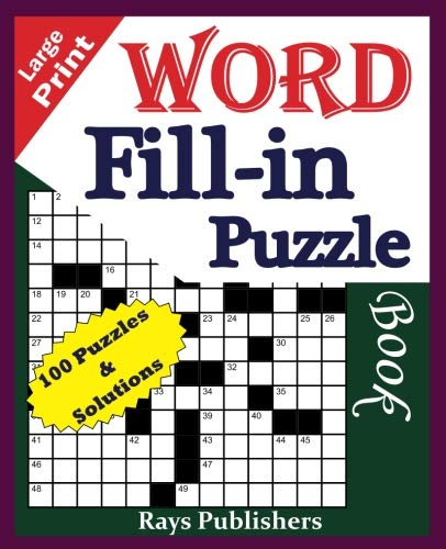 Large Print Word Fill-in Puzzle book (Volume 1) [Rays Publishers] (Tapa Blanda)