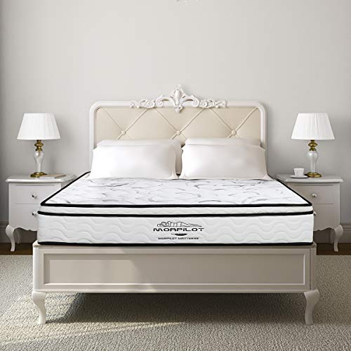 Full Size Mattress, 10 inch Memory Foam Mattress, Hybrid Innerspring Mattress in a Box with Individual Pocket Spring, Medium Firm Feel, Motion Isolation, Breathable Full Mattress