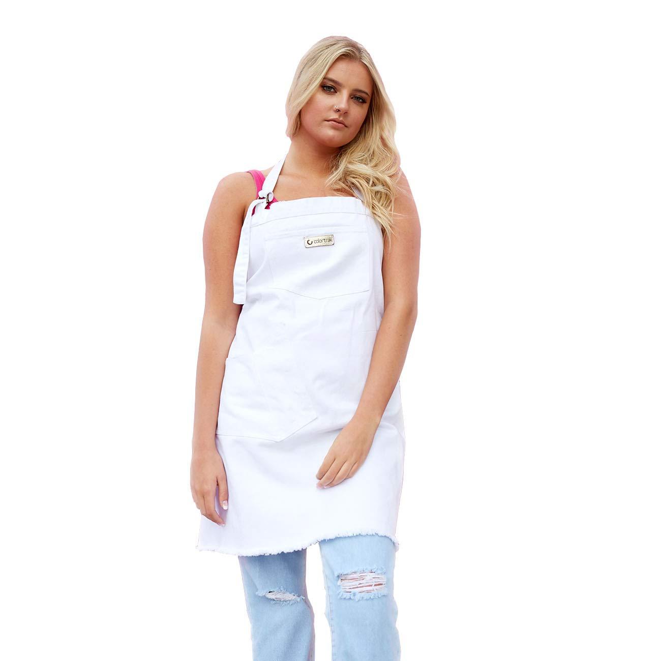 ColorTrak''so miami'' collection, the sobe, white denim painters apron