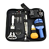 13 Piece Watch Repair Kit Set Wrist Strap Adjust Pin Tool Kit Back Remover Fix