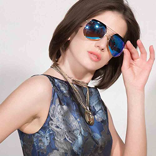 des Verres Polarisées Femmes Lunettes de HD Gold Blue conduisant personnalité ice Élégant Soleil Gold et Couleur de des Ultra Ultra pour Texture de Ice des Honey Mode blue Sunny Hommes q6UxOO