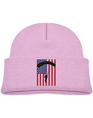 Warm American Parachuting Skydiving USA Flag Printed Infant Baby Winter Hat Beanie