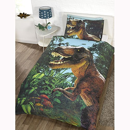 (Rapport Jurassic T-REX Dinosaur UK Single/US Twin Duvet Cover Exclusive)