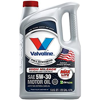 Valvoline full synthetic high mileage with for What is synthetic motor oil made out of