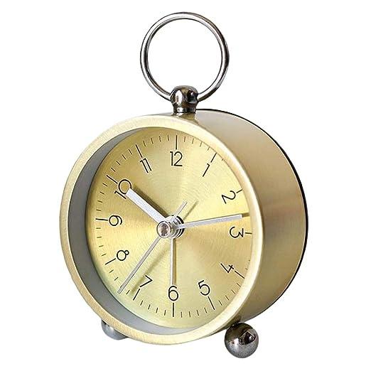 Despertadores Analógico de Estilo Nórdico, Reloj de Mesa - Golden ...