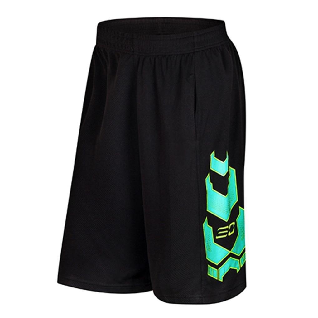 Allywit Men's Bodybuilding Gym Running Workout Shorts Active Training Shorts Plus Size
