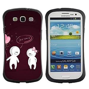 Fuerte Suave TPU GEL Caso Carcasa de Protección Funda para Samsung Galaxy S3 I9300 / Business Style Cute Love You Couple