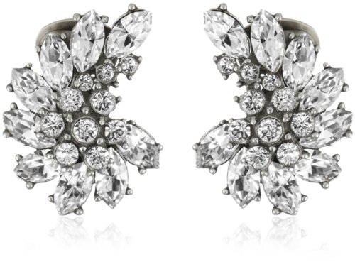 Ben-Amun Jewelry Swarovski Crystal Cluster Clip-On Earrings by Ben-Amun Jewelry