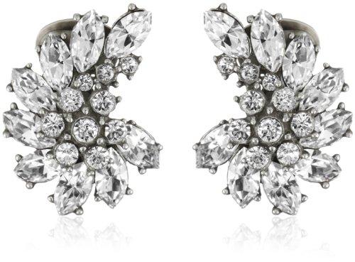 rovski Crystal Cluster Clip-On Earrings ()